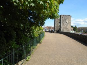 Pathway along the city wall