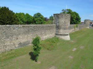 Side shot of the city wall