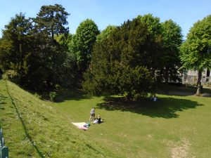 View of the Dane John Gardens from the City Wall
