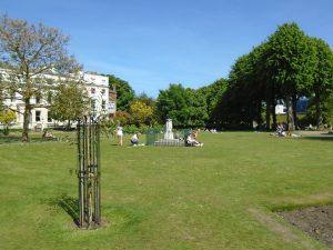 View of the Dane John Gardens